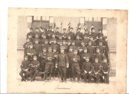 Militaria Photo Recto Verso 1er Escadron Gradés & Sous-Off. Photo Issue D'un Album De 1901 Du 16 ème Dragons De Reims - Non Classificati