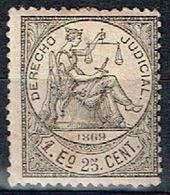 Derecho Judicial Antillas, 1869, 1E 25c. - Fiscales