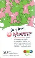 Mobilecard Thailand - 12Call - Do U Love Mouse ? - Thaïland