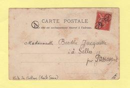 Type Mouchon - Obliteration Boite Urbaine A - Carte Postale De Conflans Haute Saone Pour Passavant - Storia Postale
