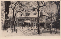 Real Photo - Unknown Location - Nice House In Winter - Architecture - Unused - VG Condition - 2 Scans - Postcards