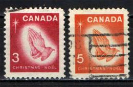 CANADA - 1966 - NATALE: MANI IN PREGHIERA DA UN DIPINTO DI DURER - USATI - 1952-.... Reinado De Elizabeth II