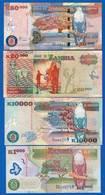 Zambie  4  Billets - Zambia