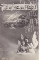 AK Heil Und Segen Zum Osterfest - Kinder Engel Birken - Patriotika - Feldpost Leipzig 1915 (34688) - Ostern