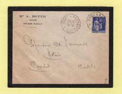 Convoyeur Bort à Neussargues - 1939 - Marcophilie (Lettres)