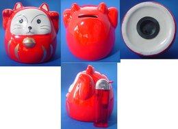 Ceramic Piggy Bank : Maneki Neko - Other