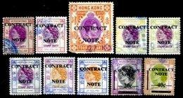 HONG-KONG, Contract Note, Used, F/VF - Hong Kong (...-1997)