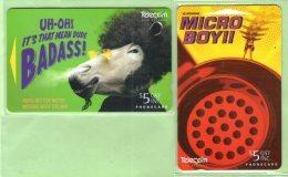New Zealand - 1996 Badass & Micro Boy Set (2) - Mint - NZ-P-69/70 - New Zealand