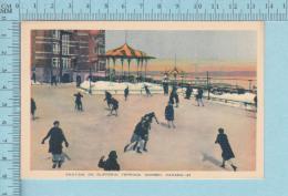 Sports Quebec -PECO, Skating On Dufferin Terrace, Animated, Animé - Carte Postale, Postcard - Sports D'hiver