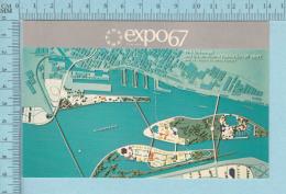 Expo67 - Terre Des Hommes,  Vue D'ensemble Du Site De L'expo 67  - Carte Postale, Postcard - Expositions
