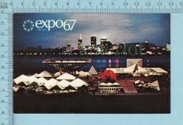 Expo67 - Terre Des Hommes,  Pavillon Du Canada Le Soir- Carte Postale, Postcard - Expositions