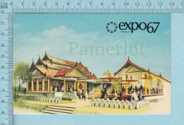 Expo67 - Terre Des Hommes,  Pavillon De La Birmanie, Burma Pavillion - Carte Postale, Postcard - Expositions
