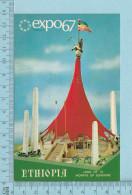 Expo67 - Terre Des Hommes,  Pavillon De L,Ethiopie, Ethiopia Pavillion - Carte Postale, Postcard - Expositions