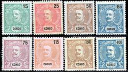 !■■■■■ds■■ Congo 1903 AF#46-53* King Carlos New Colors Complete Set (x11957) - Congo Portuguesa