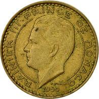 Monnaie, Monaco, Rainier III, 10 Francs, 1950, TTB, Aluminum-Bronze, KM:130 - Monaco