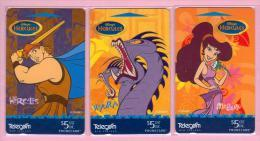 New Zealand - 1997 Disney - Hercules Set (3) - NZ-D-96/98 - Mint - Nuova Zelanda