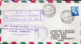 LETTRE ITALIE  1961 - BRIGADE ITALIENNE DES NATIONS UNIES - FLORENCE A N'DJILI - - Aviones