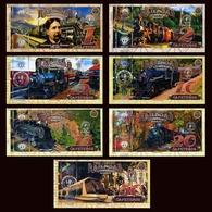 POLYMER SET El Club De La Moneda 1;2;5;10;15;20;50 2017> Coffee Railroad, Trains - Andere