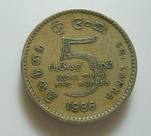 Sri Lanka 5 Rupees 1986 - Sri Lanka