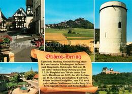 73226409 Hering_Odenwald Marktplatz Schloss Runder Turm Fachwerkhaeuser Hering O - Alemania