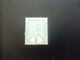 ZULULAND 1894 REINA VICTORIA Yvert 19 * Stanley Gibbons N 25 MH Corona CA - Zululand (1888-1902)