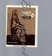 72-115 CZECHOSLOVAKIA 1967 Petr Bezruc Pseudonym Of Vladimir Vasek Czech Writer Tombstone - Cemetery Opava - Luciferdozen - Etiketten