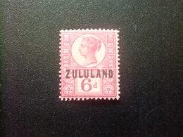 ZULULAND 1888 REINA VICTORIA Yvert 8 (*) Stanley Gibbons 8 MH Fil Corona - Zululand (1888-1902)