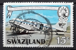 SWAZILAND 1975 The 10th Anniversary Of Internal Air Service. USADO - USED. - Swaziland (1968-...)