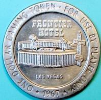$1 Casino Token. Frontier, Las Vegas, NV. 1967. D95. - Casino