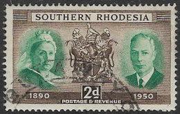 Southern Rhodesia SG70 1950 Diamond Jubilee Of Southern Rhodesia 2d Good/fine Used [37/30719/2D] - Southern Rhodesia (...-1964)