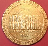 $1 Casino Token. New York New York, Las Vegas, NV. 1997. D96. - Casino