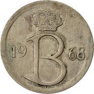 Monnaie, Belgique, 25 Centimes, 1968, Bruxelles, TTB, Copper-nickel, KM:153.1 - 02. 25 Centimes