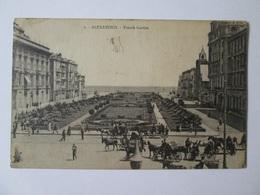 Egypt/Alexandria-French Garden/Jardin Francais,used Postcard From 1924 - Alexandrie