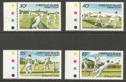 Christmas Island - 1984 Cricket Anniversary  MNH **    Sc 157-60 - Christmas Island