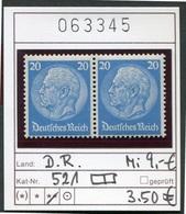 Deutsches Reich - Michel 521 Im Paar / Pair - ** Mnh Neuf Postfris - Allemagne