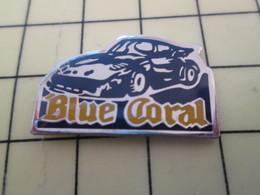 Pin513H Pin's Pins : BEAU ET RARE :  Thème AUTOMOBILE / PORSCHE BLUE CORAL - Porsche