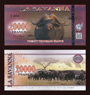 La Savanna 20000 Francs 2016 - Cape Buffalo - Billets
