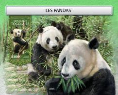 TOGO 2018 MNH** Pandas Bears Bären Ours S/S - IMPERFORATED - DH1813 - Bären