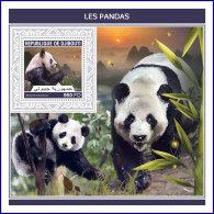 DJIBOUTI 2018 MNH** Pandas Bears Bären Ours S/S - IMPERFORATED - DH1813 - Bären