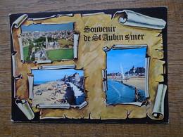 """Saint-aubin-sur-mer , Multi-vues , """""""" Timbre Et Surtout Cachets Spécial De France Et Belgique """""""" - Saint Aubin"""