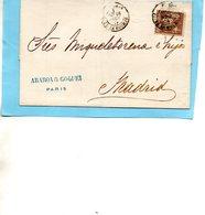 N°56,PARIS Pour MADRID,L.S.C. 16/6/77. - Postmark Collection (Covers)