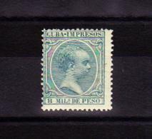 1896 - 1897 ALFONSO XIII PELÓN EDIFIL 145* VC 11€ - Cuba (1874-1898)