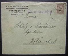Schaag (Rhld.) P. Leonard Heimes Käse Import U. Grosshandlung Station Brevell (bahnpost) - Germany