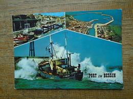 """Port En Bessin , Multi-vues """" Carte Animée Bateau De Pêche Dans Les Vagues """" - Port-en-Bessin-Huppain"""