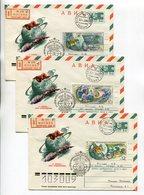 SPACE FDC R-COVERS X3 USSR 1976 AVIA 12 APRIL-COSMONAUTICS DAY SOYUZ-APOLLO #76-51 SPP Mi# 4461-63 - Russia & USSR