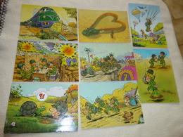 LOT DE 8 ILLUSTRATIONS HUMORISTIQUES MILITARIA ...SIGNE JEAN POL..?JEAN-POZ.. ? AVEC DEFAUTS.. - Postkaarten