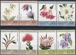 1985 SAINT VINCENT GRENADINES BEQUIA Michel 106-13** Fleurs - St.Vincent & Grenadines