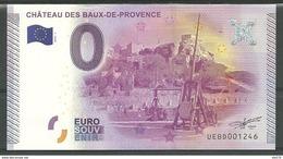 Billet Touristique  0 Euro 2015 Château Des BAUX De PROVENCE - Private Proofs / Unofficial