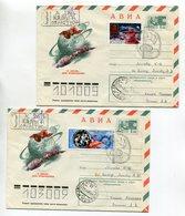 SPACE R-COVERS X2 USSR 1976 AVIA 12 APRIL-COSMONAUTICS DAY SOYUZ-APOLLO #76-51 SPP KALUGA Mi# 4402, 4426 - Russia & USSR