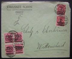 1923 Preetz Johannes Schon Wurtz Und Fleischkonservfabrik Affranchissement à 5 Millions De Marks - Allemagne
